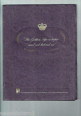 #t100.  1953  Queen  Elizabeth Ii  Pictorial   Magazine In Presentation  Folder