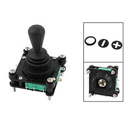 AC 240V 5A 4NO 4NC Momentary 2.5mm Fixing Thread Joystick Switch MJ