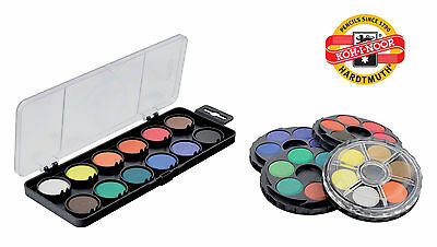 Watercolour Paint Round Wheel Set Stackable Koh-I-Noor Water Colour 36 48 Disc