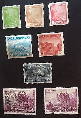 Chile Animals Lot Of 5 Stamps Unsed Never Hinged Mnh** And 3 Stamps Used Spl