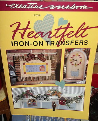 Heartfelt Country Iron On Transfer Book Creative Workbook ~Us Seller
