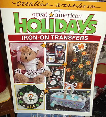 Great American Holidays Iron On Transfer Book Creative Workbook ~Us Seller