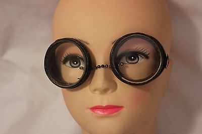 Vintage Saniglas Safety Glasses Goggles. Steampunk Wire Mesh Sides Bakelite Rims