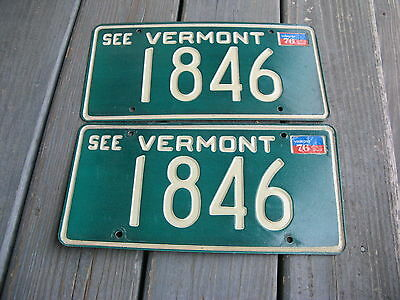 1976 76 Vermont Vt License Plate Nice Tag  Buy It Now. Pair Nice Set