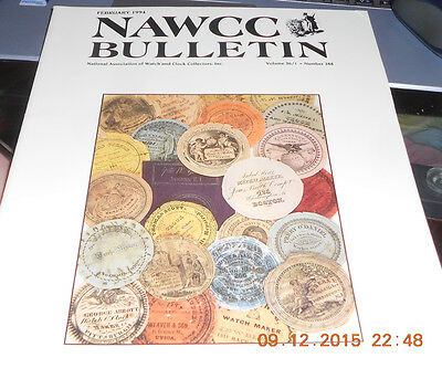 NAWCC Bulletin February 1994 Watch and Clock Collector