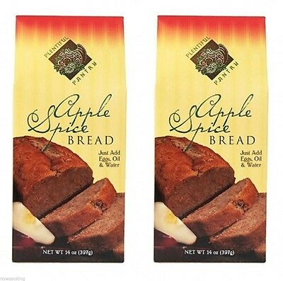 Plentiful Pantry Chunky Apple Spice Bread Mix 2 Pack Holiday Party Great Gift