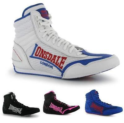 Lonsdale Contender Mens Boxing Boots Fight Training ~All sizes 7-13, EU 41-48