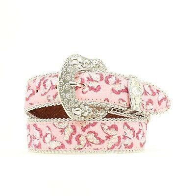 "BLAZIN ROXX - Girl's Belt 1.25"" - Glitter Butterfly - Pink - ( N4416030 ) - New"