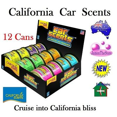 California Scents Car Air Freshener Deodoriser 12 Cans Many Fragrance Last60Days
