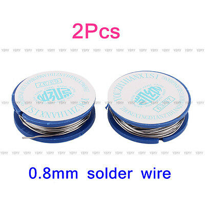 Hot Firm 2Pcs 0.8mm 11g Tin Lead Rosin Core Solder Welding Iron Wire Reel 63/37