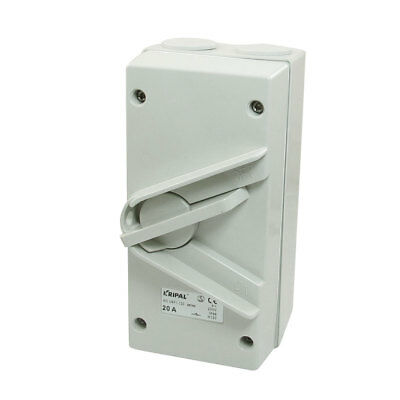 SPST 2 Postions Rotary Button IP66 Weather Protected Isolator Switch 250VAC 20A