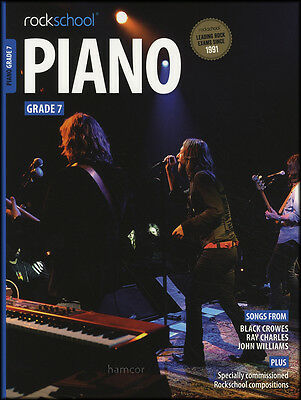 Rockschool Piano Grade 7 Exam Sheet Music Book/Audio Black Crowes John Williams