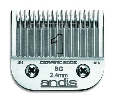 "Andis CeramicEdge # 1 Ceramic Clipper Blade #64465 3/32""  2.4mm (Size #1) NEW"