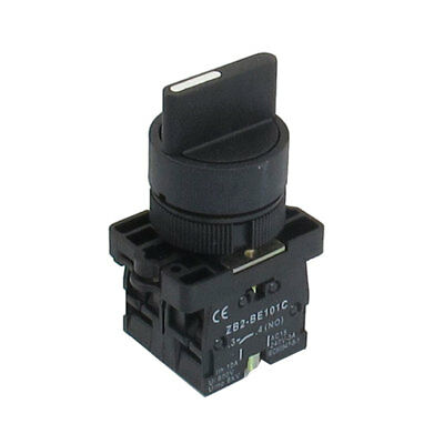 AC 660V 10A On/Off/On Self Lock 3 Postion Rotary Selector Switch 22mm ZB2-ED33