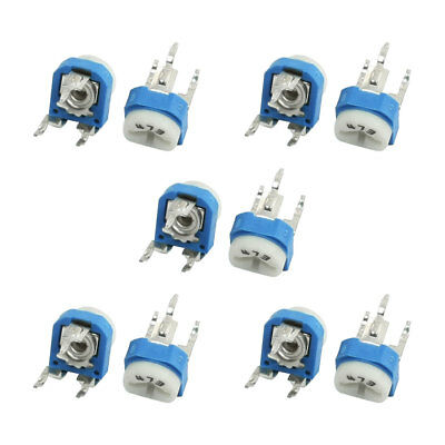 10Pcs DVD VCD 47K Ohm Trim Pot Potentiometer Adjustable Resistor WH06-2