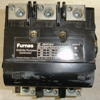 NEW Surplus Furnas Contactor 42HF35A* 120 Amp 150 amp res. w/ 24 volt DC coil