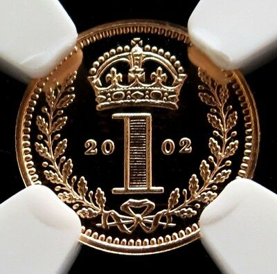 2002 Gold Great Britain Pence Maundy Ngc Proof 70 Ultra Cameo 2,002 Minted