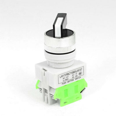 AC 660V 10A DPST 4-Terminal 3-Position Selector Self-Locking Push Button Switch