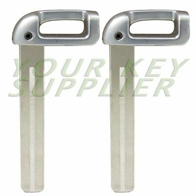 2 Uncut Emergency Key Blade Insert for Kia Hyundai Smart Proximity-High Security