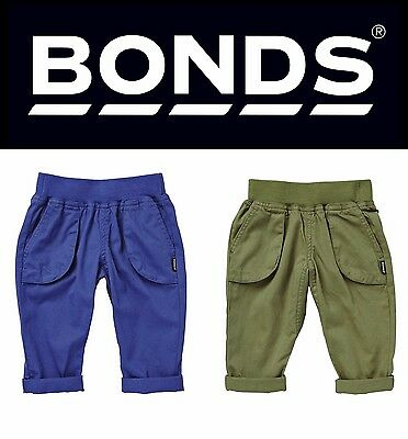 New Baby Bonds Boy Boys Cargo Pant Olive  Blue Cotton Pop Woven Pants Casual