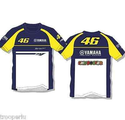 2015 Official Yamaha Racing Rossi T Shirt Blue Yellow VR46 Valentino Rossi