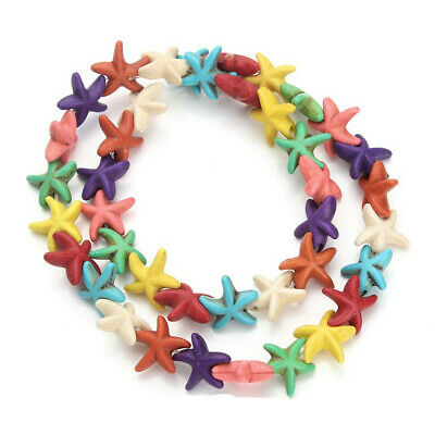 30pcs Multicolor Turquoise  Starfish jewelry Diy charm spacer beads 13mm