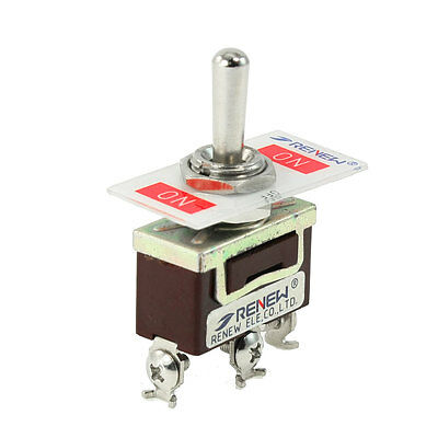 Panel Mounted ON-OFF-ON 3 Way SPDT Latching Toggle Switch 15A/250VAC 20A/125VAC