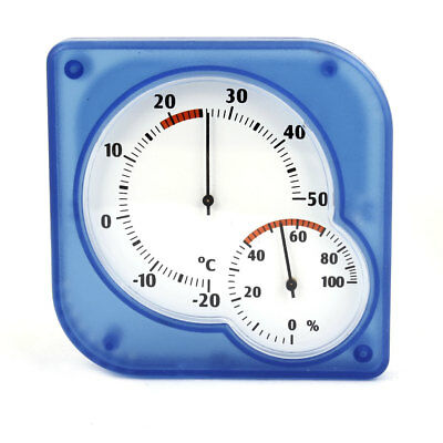 Square Shape Chinese Number Pattern Thermometer Hygrometer Indoors