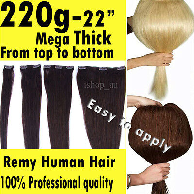"""Clip In HUMAN HAIR Extensions Salon Quality 13"""" 16""""18"""" 20""""22"""" 24"""" Australia Many"""