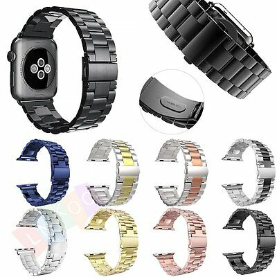 Replacement Stainless Steel Strap Band Clasp for Apple Watch iWatch 1/2 38/42mm