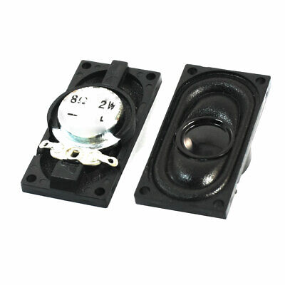 Replacement Plastic Shell Magnetic Notebook Speaker Trumpet 2W 8 Ohm 2Pcs