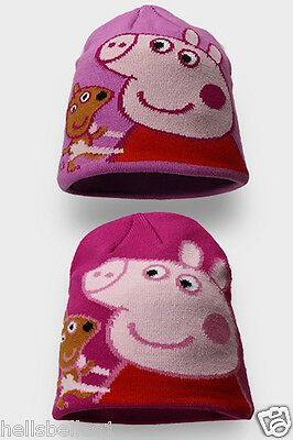 Girls Peppa Pig Winter Knitted Beanie Hats 2-4Yrs Or 4-8Yrs Aprx