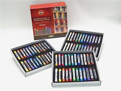 Dry Soft Round PASTEL Set 24-72 Colors KOH-I-NOOR Toison 8517 8516 Art Supplies