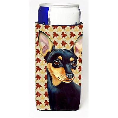 Min Pin Fall Leaves Portrait Michelob Ultra s For Slim Cans 12 oz.