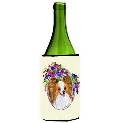 Carolines Treasures SS8074LITERK Papillon Wine Bottle Hugger 24 oz.