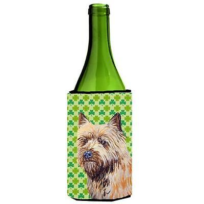 Cairn Terrier St. Patricks Day Shamrock Portrait Wine bottle sleeve Hugger