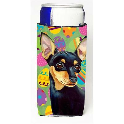 Carolines Treasures Min Pin Easter Eggtravaganza Michelob Ultra s for slim cans