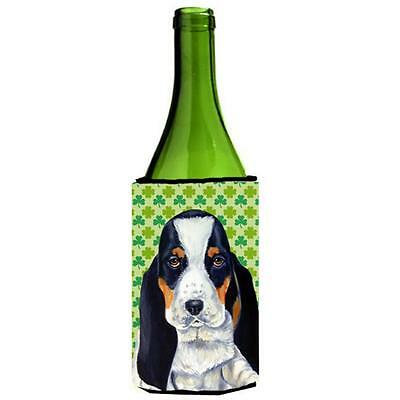 Basset Hound St. Patricks Day Shamrock Wine bottle sleeve Hugger