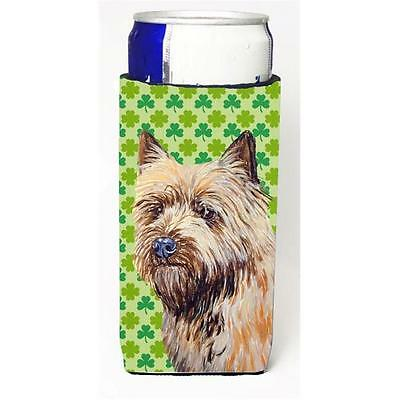 Cairn Terrier St. Patricks Day Shamrock Portrait Michelob Ultra bottle sleeve... • AUD 54.69
