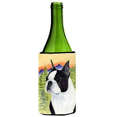 Carolines Treasures SS8187LITERK Boston Terrier Wine bottle sleeve Hugger