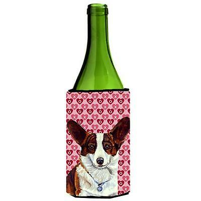 Corgi Hearts Love And Valentines Day Portrait Wine Bottle Hugger 24 oz.