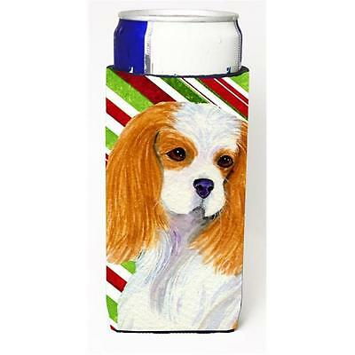 Cavalier Spaniel Candy Cane Holiday Christmas Michelob Ultra bottle sleeve fo...