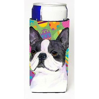 Boston Terrier Easter Eggtravaganza Michelob Ultra bottle sleeves For Slim Ca...