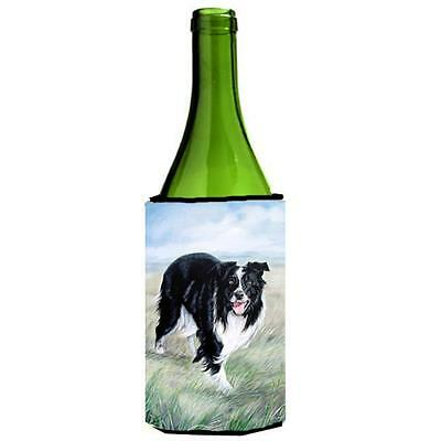 Carolines Treasures VLM1020LITERK Border Collie Wine bottle sleeve Hugger