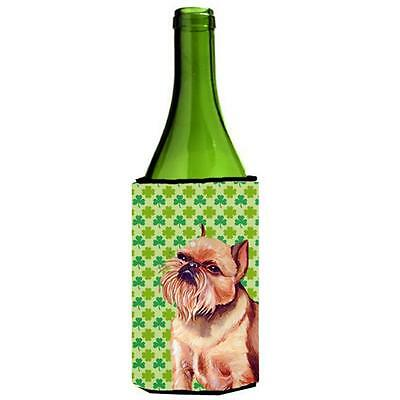 Brussels Griffon St. Patricks Day Shamrock Portrait Wine bottle sleeve Hugger
