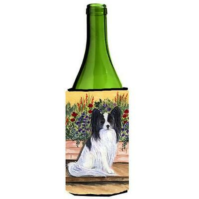 Carolines Treasures SS8210LITERK Papillon Wine bottle sleeve Hugger