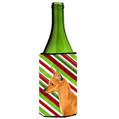 Min Pin Candy Cane Holiday Christmas Wine Bottle Hugger 24 oz.