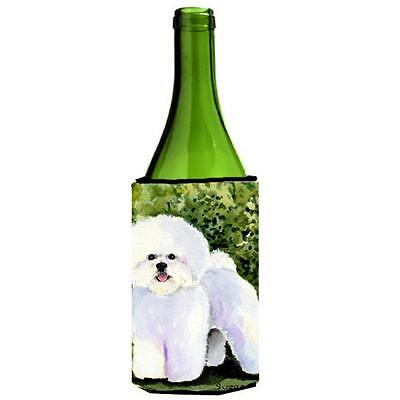 Carolines Treasures SS8712LITERK Bichon Frise Wine bottle sleeve Hugger 24 Oz.