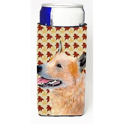 Australian Cattle Dog Fall Leaves Portrait Michelob Ultra s for slim cans