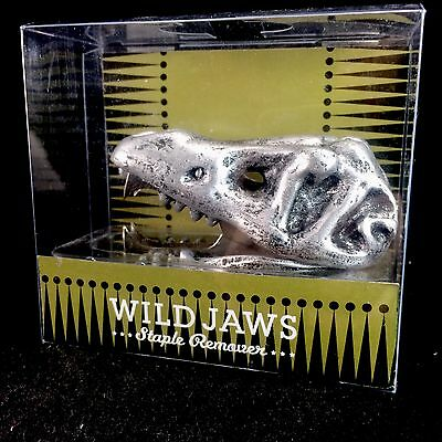 All Wild Jaws Dinosaur T-Rex Funny Teeth Staple Remover Office Supplies Skull